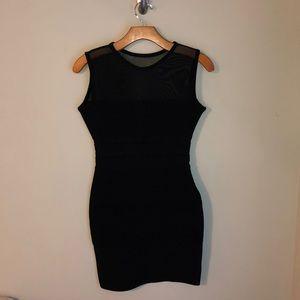 Herve Leger Black Bandage dress with mesh details!