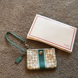 Brand new without tags, Coach wristlet with box