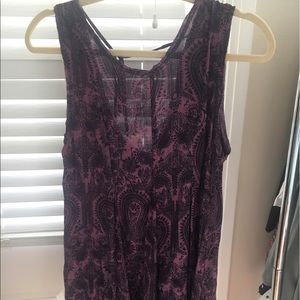 Urban Outfitters Purple Paisley Dress
