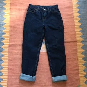 Vintage Levi's high waisted dark wash