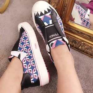 💯 % Authentic Fendi Monster Sneakers
