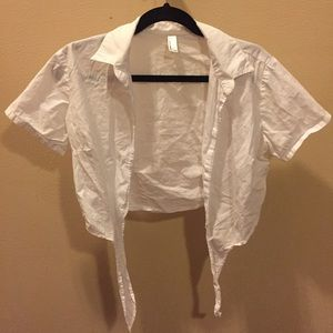 American apparel white button up xs/s