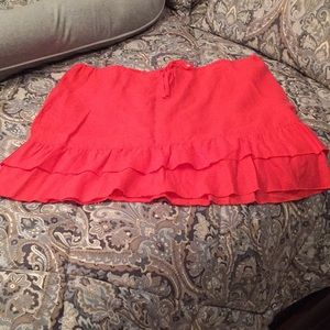 Old Navy 💯% linen coral red drawstring skirt, 18
