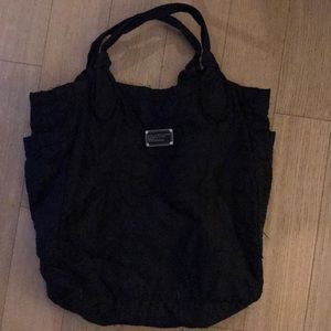 Marc by Marc Jacobs Large Black Nylon Tote Bag