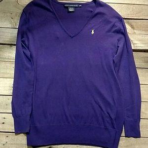 Ralph Lauren Sport purple v neck sweater