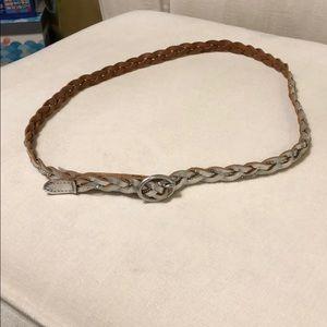 Silver braided belt