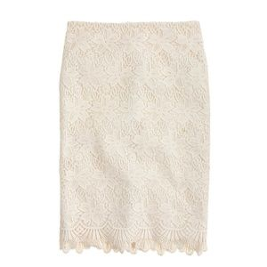 J. Crew Collection Guipure Lace Pencil Skirt