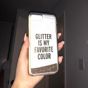 Kate spade glitter iPhone 7plus case