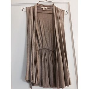 Forever 21 Beige Drape Cardigan with Tie-Back