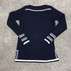 LOFT Sweaters - Ann Taylor Loft Navy and White Sweater Size XSP