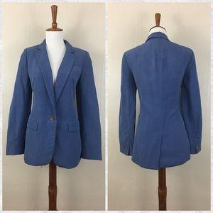 Banana Republic Silk Linen 1 Button Blazer Jacket