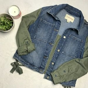 Pilcro (Anthropologie) Denim and Army Green Jacket
