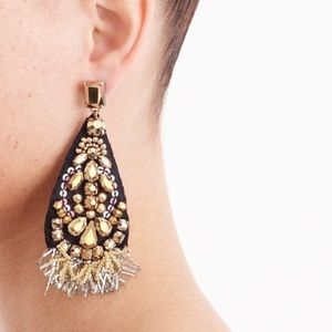 J. Crew sparkle teardrop earrings