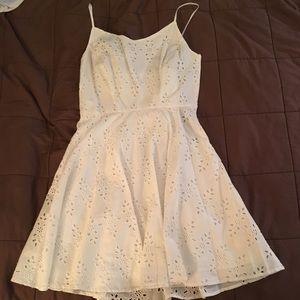 NWT White Eyelet Pattern Cami Dress