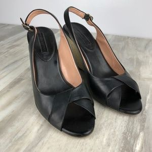 Banana Republic Peep Toe Wedge Sandals