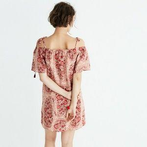 NWT Madewell silk watercolor paisley dress