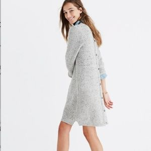 Madewell Button-Back Sweater Dress Size S NWT