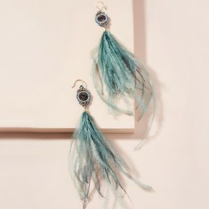 Anthropologie Feather Earrings