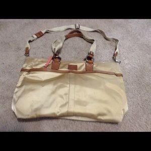 Coach Gold Baby Bag
