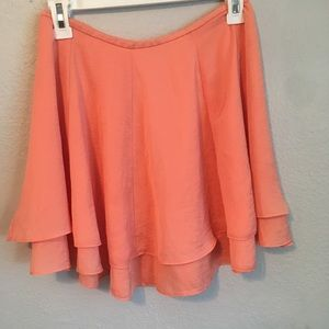 Silence + Noice layered coral skirt