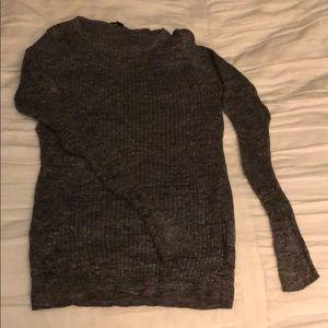Grey woman's jcrew sweater