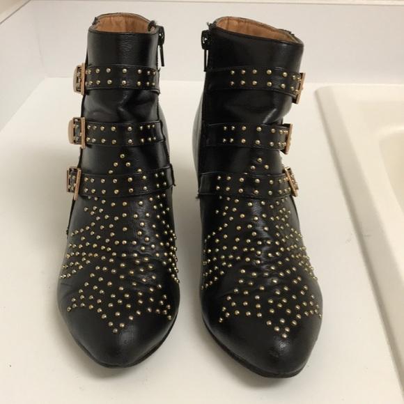 Gojane Rose Gold Studded Ankle Boots