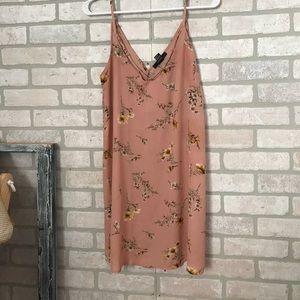 Mauve floral tunic/mini dress