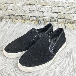 Michael Kors Black Suede Slip On Sneakers