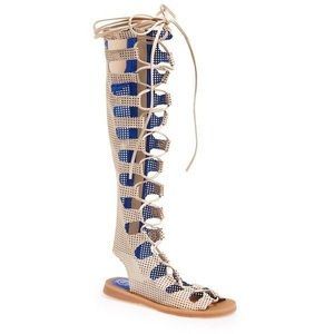 Jeffrey Campbell Ibiza Olympus Over Knee Sandals