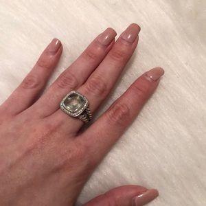 David yurman Albion Ring Prasiolite Diamonds, 11mm