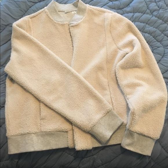 cf38c9d4 GAP Jackets & Coats | Sherpa Cream Sherpa Bomber Jacket | Poshmark