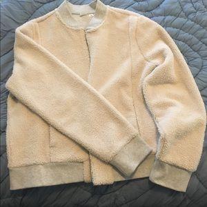 Gap Sherpa bomber jacket (cream/oatmeal)