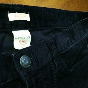 """J.Crew"" Matchstick Corduroy pant (Navy blue)"