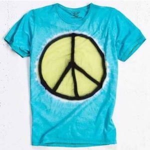 NWT UO Tie Dye Peace Sign T-Shirt