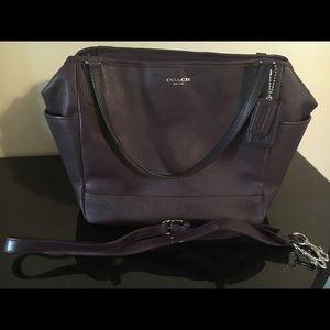 Authentic Purple Coach Diaper Bag
