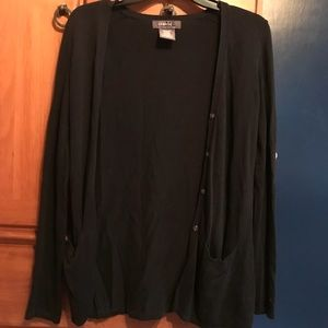 NWOT GEORGE Black Cardigan