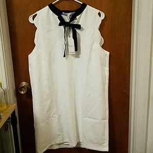 Lovely Modcloth White Dress- NWT