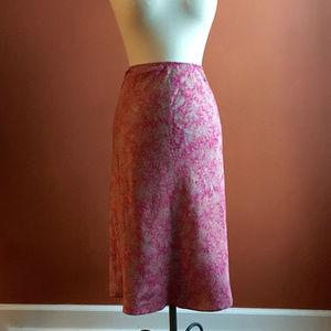 GAP Pink/Orange Silk Skirt Size S