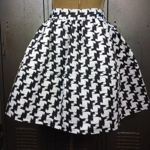 Express Houndstooth Full Skirt.