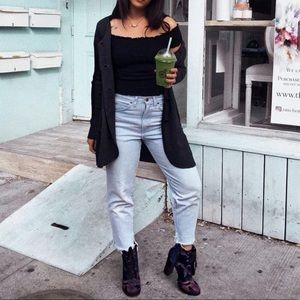 Velvet Lace Up Chunky Boots