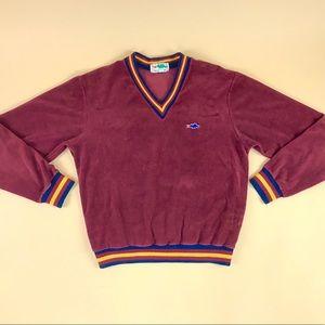 Vintage 70s velvet sweater Gryffindor sweatshirt