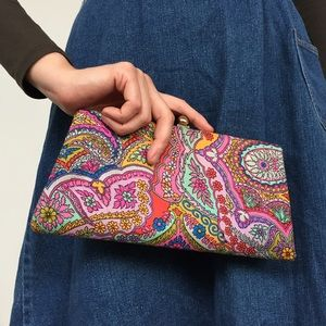 Vintage 60's Psychedelic Paisley Clutch Purse Bag