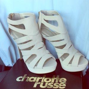NWT nude sandal heels