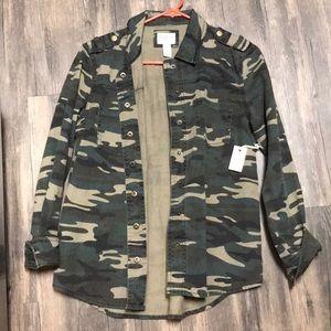 Denim Army Fatigue Jacket