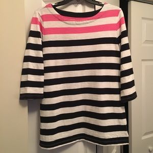 Boat neck stripped sweater