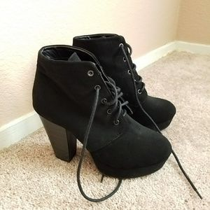 Charlotte Russe Black Suede Boots