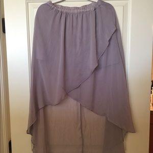 Lavender high lo skirt