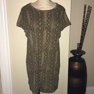 Michael Kors snake print tunic / mini dress