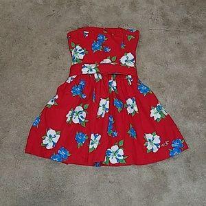 Hollister Strapless Dress floral