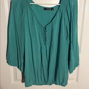 a.n.a Turquoise Blouse